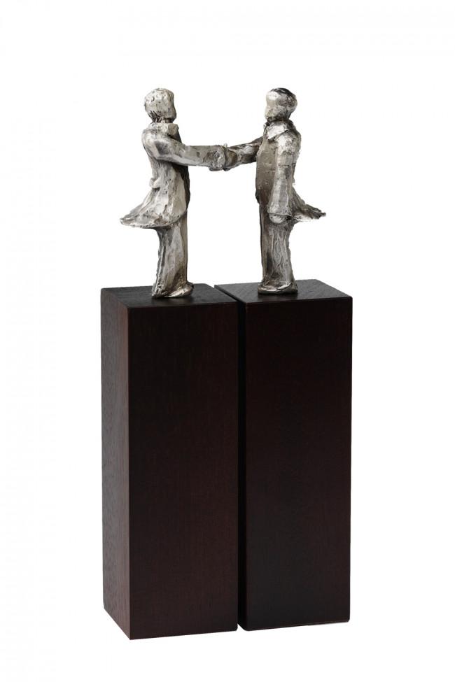 Sculpture Accord argenté