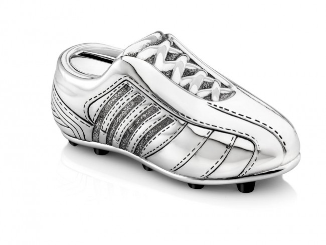 Tirelire Chaussure de football arg/laq
