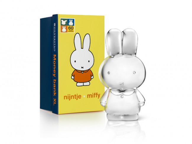 Tirelire Miffy XL 8,3x9,5x18 couleur arg.