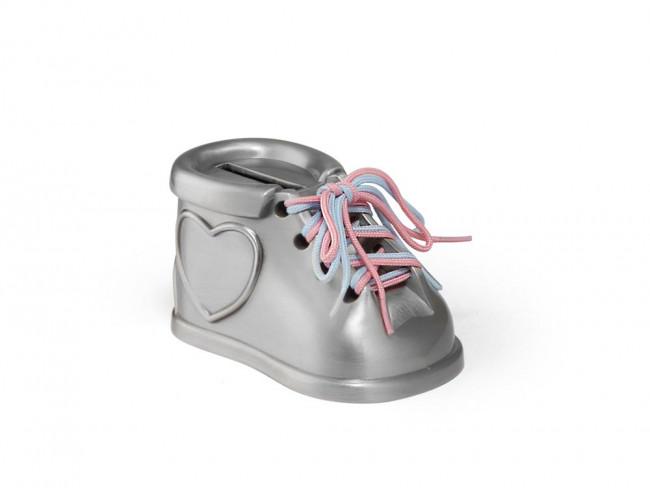 Tirelire Chaussure 2 lacets coul. mat laq.
