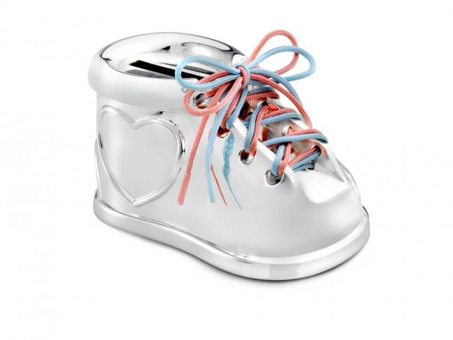 Tirelire Chaussure arg./laq.