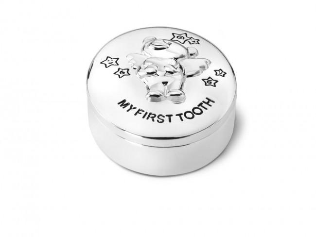 Boîte pour dents Twinkle 5.5x4.5cm arg/laq
