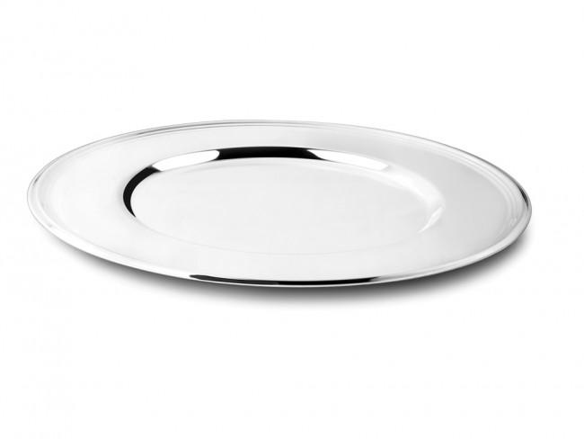 Assiette Filet 33cm couleur argent