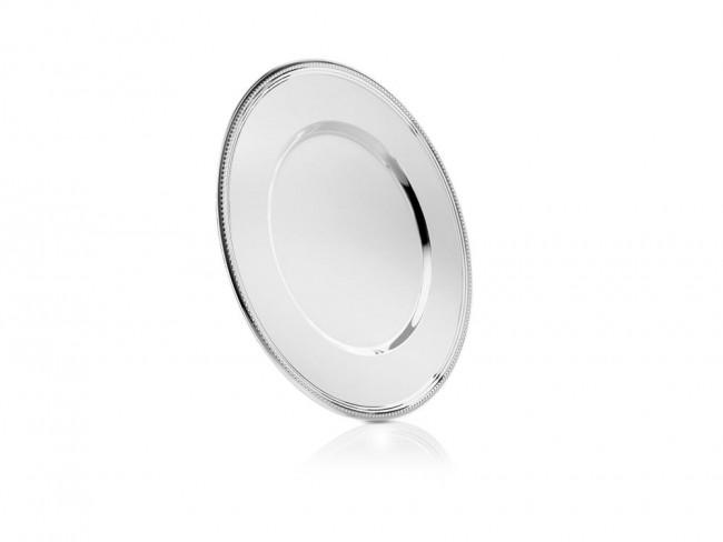 Assiette Perle 33cm couleur argent
