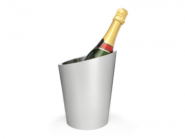 Seau à champagne double paroi acier inox