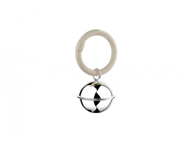 Hochet Ballon filet accroché à l'anneau 925 argent
