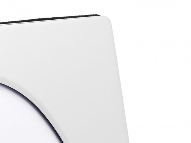 Cadre photo ovale (10x15cm), argenté laqué