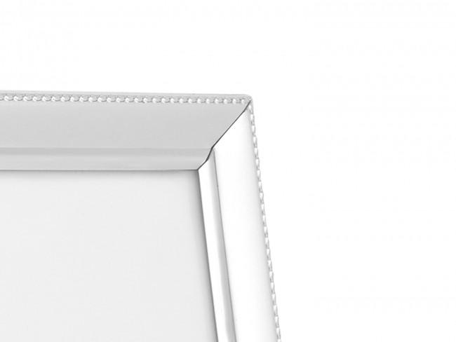 Cadre photo Perle étroit 10x15 cm arg/laq