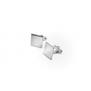 Boutons de manchette carrés 15mm arg 925
