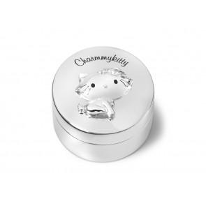 Boîte à dents Charmmykitty 5.5x4.5cm arg./laq.