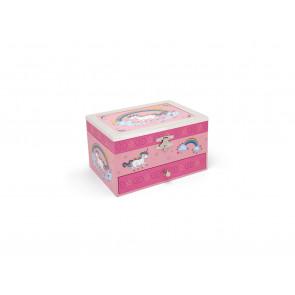 Boîte à bijoux Licorne + bordure arg/laq