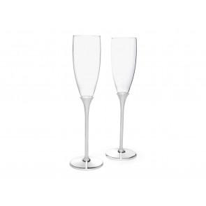 Verres de champagne Smooth s/2 acier inox