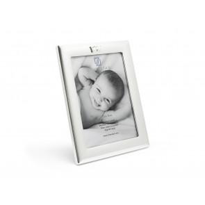 Cadre photo 13x18 cm argenté laqué
