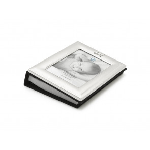 Album photos 9x13 avec couronne, argenté laqué