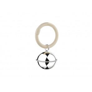 Hochet Ballon perle accroché à l'anneau 9x5,5x3,5cm arg.B90