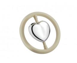Hochet Cœur dans l'anneau arg. B90