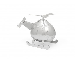 Tirelire Hélicoptère, couleur argent