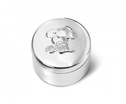 Boîte premières dents Snoopy, argenté laqué