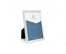 Cadre photo Perle, étroit, 13x18 cm, argenté laqué
