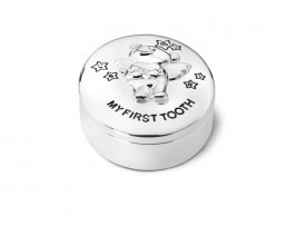 Boîte première dent Twinkle, argenté laqué
