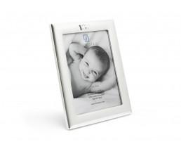 Cadre photo Couronne 13x18 cm, argenté laqué