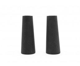 Bougeoir Oblique, set de 2, sandstone resin